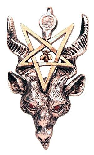 ittelalter Magie Hexe Amulett Anhänger Halskette Baphomet (Baphomet Kostüm)