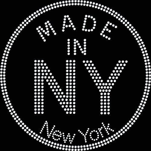 Twisted Envy Realizzato in Ferro NY New York a diamante con strass su t shirt design Transfer
