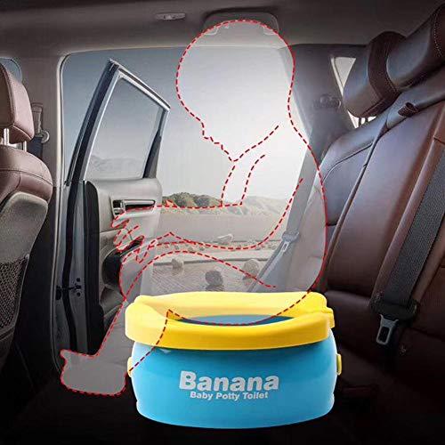 Vasino per bambini portatile, pieghevole da viaggio Vasino di emergenza per auto con 20 sacchetti usa e getta per auto, viaggi, campeggio