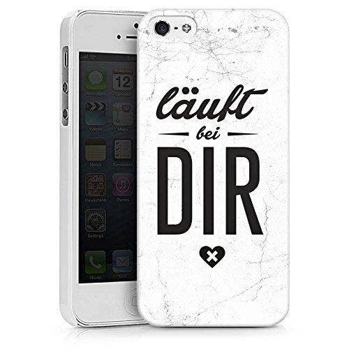 Apple iPhone X Silikon Hülle Case Schutzhülle Sprüche Läuft Bei Dir Spruch Hard Case weiß