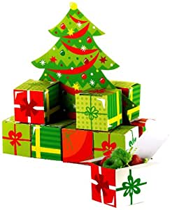 christmas tree gift box dekoartikel k che. Black Bedroom Furniture Sets. Home Design Ideas