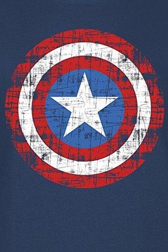 Captain America - Shield Femme T-Shirt - Bleu Bleu