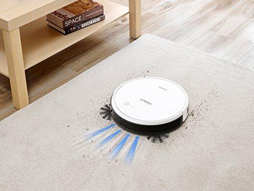51LIlwfHuTL [Bon Plan Ecovacs] ECOVACS DEEBOT 600 - Aspirateur robot nettoyeur - Pour sols durs et tapis - Aspirateur sans fil programmable via smartphone et compatible avec Amazon Alexa