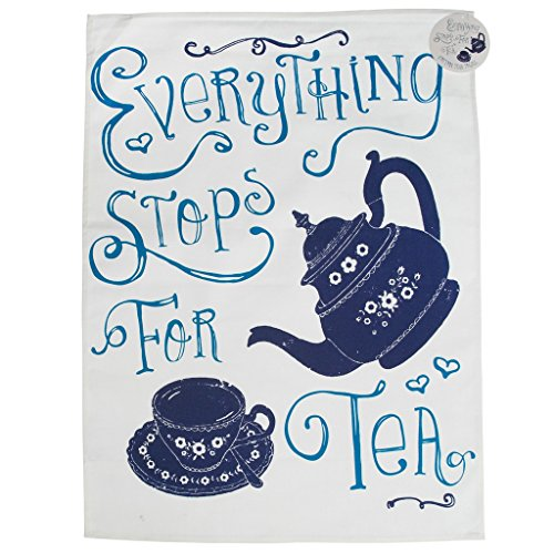 100 Cotton Tea Towel Choice Of Design Everything Stops For Tea Buy Online In Barbados At Barbados Desertcart Com Productid 56762008