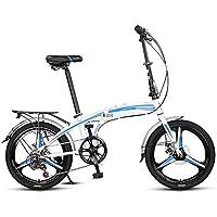 Bicicleta plegable de luz para estudiantes adultos con mini 7 velocidades, bicicleta de 20 pulgadas