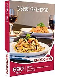 smartbox Emozione3 - Cofanetto Regalo - CENE SFIZIOSE - 690 cene Esotiche tra Cucina Asiatica, Americana, Biologica o Tradizionale