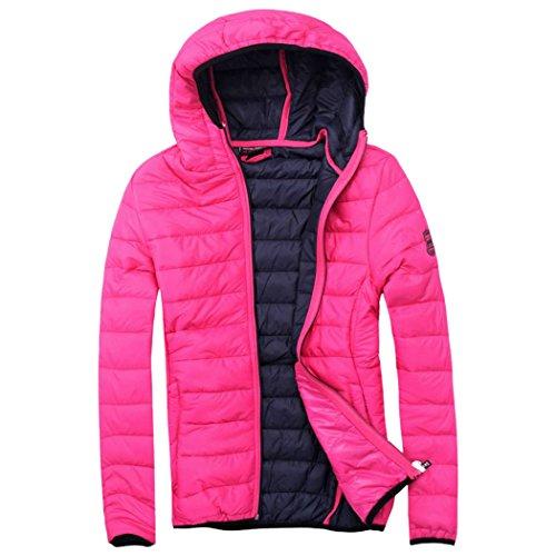 EXUMA Damen Sportbekleidung Aufgeblasen Jacke Fuchsia