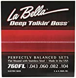 La Bella Deep Talkin' Bass Flatwound-/Saitensatz für Bassgitarre (aus Edelstahl, Light)