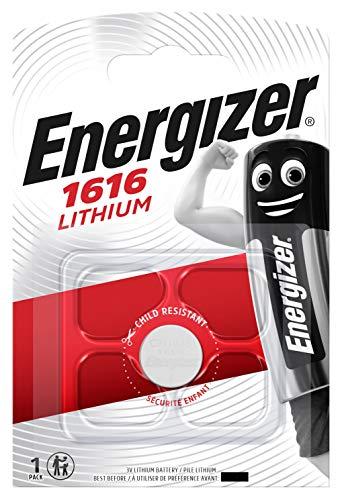Energizer CR1616 - Confezione da 2 batterie a bottone a litio, 3 V, adatte per i telecomandi delle auto, indicate anche con il codice DL1616