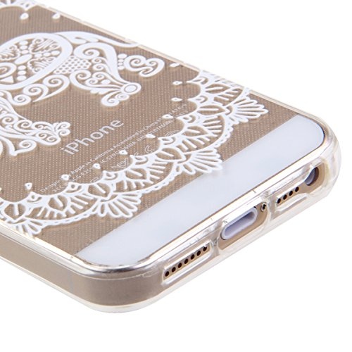 iPhone 6S Hülle,iPhone 6 Hülle [Scratch-Resistant],iPhone 6S 6 Hülle 4.7, ISAKEN iPhone 6S iPhone 6 4.7 Ultra Slim Perfect Fit Christmas Weihnachtstag Geschenk Muster Malerei TPU Clear Transparent Pro Aztec Tribal Relief Elefant