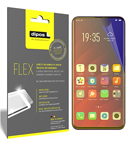 dipos I 3X Schutzfolie 100% passend für Oppo Find X Folie (Vollständige Bildschirmabdeckung) Bildschirmschutzfolie