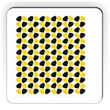 Rikki Knight Petals Leaves Fall Winter Design Square Fridge Magnet, Freesia Yellow/Black