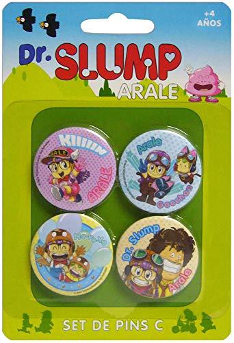 Dr. Slump - Pack 4 badges Set C