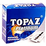 topaz Razor's Blades Platinum Sputtered Edges (10 Tucks of 10)