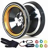 MAGICYOYO Silencer M001-B Yo-yo Ball Aluminum6061 Unresponsive Yo-yo with Stainless Center Bearing
