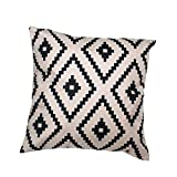 Bett Kissen Cover 45*45cm sunnymi Geometric Argyle Linen Throw Pillow Case Cushion Cover Home Decor (Gelb, 45cm*45cm)