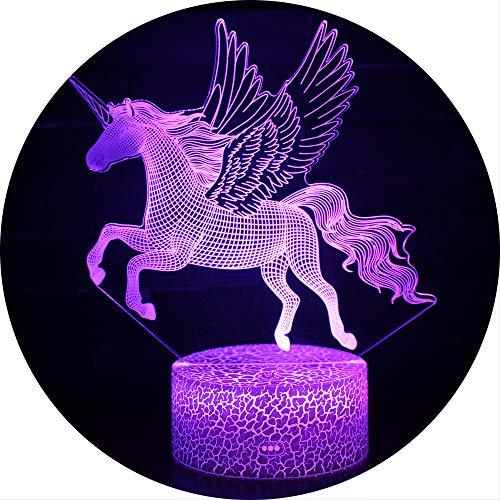 Ray-Velocity 3D Einhorn Illusion Lampe Nachtlicht optische Täuschung Lampe Schreibtischlampe...