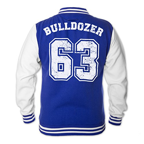 Kostüm Spencers - Bud Spencer Herren Bulldozer 63 College Jacket (blau) (XXL)