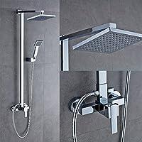 AuraLum® Bagno Doccia Sistema Parete Doccia per Vasca, Piazza 20x20cm