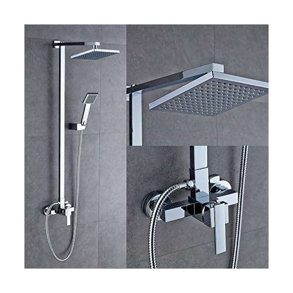 Auralum – Juego de grifo mezclador para ducha, latón, tipo D, Standard Shower Set