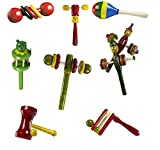 #10: CeeJay Toys RA-OW025 Wooden Baby Rattle Toys, 0-2 Years (Yellow) - Pack of 8