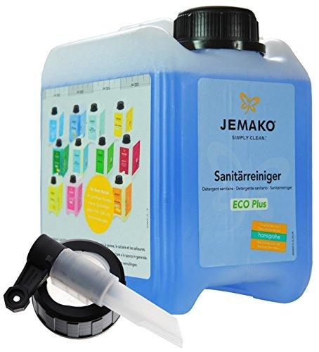 Jemako Sanitärreiniger ECO Plus, 2 Liter Kanister inkl. Auslaufhahn