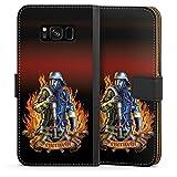 DeinDesign Samsung Galaxy S8 Tasche Leder Flip Case Hülle Feuerwehrmann Feuerwehr Firefighter