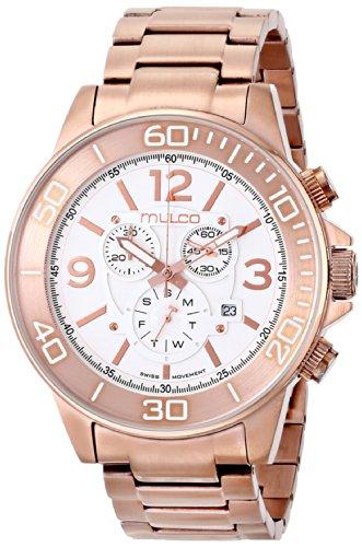Mulco MW4-90147-331 - Reloj de pulsera unisex, Silicona, color Oro Rosa