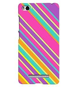 Citydreamz Multicolor Diagonal Stripes Hard Polycarbonate Designer Back Case Cover For Xiaomi Mi4i/ MI 4i