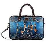 Brandvilla Blue Massai Laptop Bag 15 inch Expandable Laptop Backpack