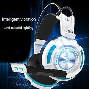 Gaming Headset USB PC Headset zum Aufhängen von Stereo-Gaming-Kopfhörer-LED-Lichtohr