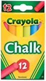 Crayola® - Chalk, Assorted Colors, 12 Sticks/Box - Sold As 1 Box - For children's chalkboards, construction paper, cardboard boxes, paper bags.
