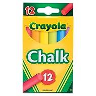 Crayola® - 12 Bastoncini di gesso in scatola, lavagne, carta da cosruzione, buste in cartoncino e carta, colori assortiti