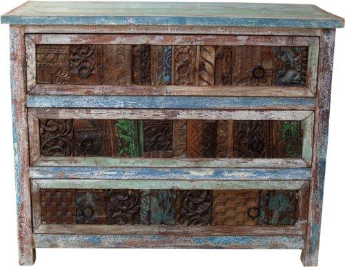 Guru-Shop Aparador Cajón con Sellos Antiguos Bloque de Impresión (JH0-234), 83x102x46 cm, Cómodas y Aparadores