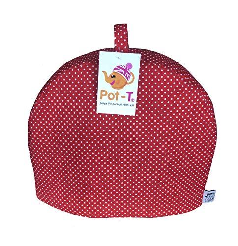 Pot-T Isolierter Teewärmer Cozy in rot Spot (Standard (22cm (H) X 9cm (D) X 26,5cm (L))) Pott Spot
