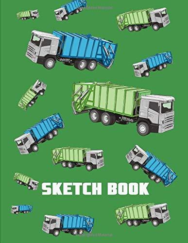 Sketch Book. Big Truck Cover Design. Blank Sketchbook for Sketching, Drawing, Doodling. -