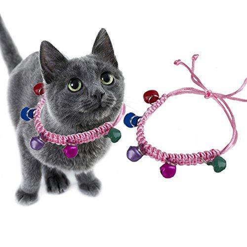 Huhuswwbin Hundehalsband, Katzenglöckchen, Runde Form, Hundehalsband, Verstellbarer Sicherheitsgurt, Zubehör, zufällige Farbe