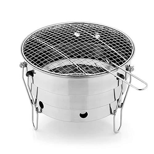 ill Grill Feuerstelle Edelstahl Demontage und Lagerung Einfach zu tragen Mesh Cover Outdoor BBQ Picknick Camping obligatorisch für 2-4 Personen ()