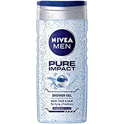 Nivea Pure Impact Shower Gel for Men, 250ml