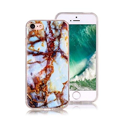 XiDe iPhone 6 Hülle iPhone 6S Hülle Marmor Textur Muster TPU Silikonhülle Softcase Back Cover Tasche Schutzhülle Anti-Scratch Telefon-Kasten Handyhülle Handycover Euit - Rauch Weiß Rostbeschaffenheit