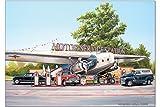 Kühlschrankmagnet Oldtimer Auto G. Huber Gas Station USA