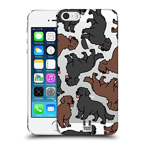 Head Case Designs Flat Coated Retriever Hunderassen Muster 11 Ruckseite Hülle für Apple iPhone 5 iPhone 5s iPhone SE (Der Flat Head T-shirt,)