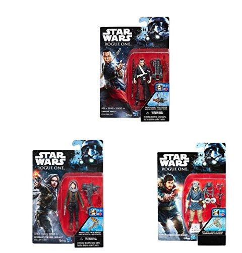 3 Stück Star Wars Figuren, Rebel Bundle bestehend aus Jyn Erso, Cassian Andor und Chirrut Imwe - 2
