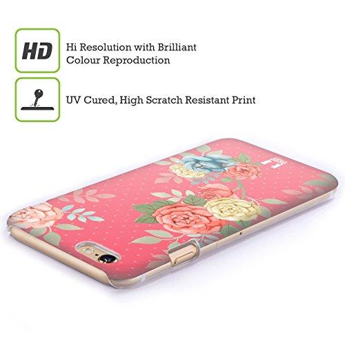 Head Case Designs Vorgeschmack Auf Den Sommer Nostalgische Rosenmuster Ruckseite Hülle für Apple iPhone 4 / 4S Blüten In Pink