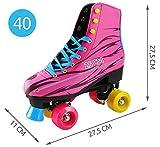 Iso Trade Rollschuhe Pink Größe 36-40 RollerSkates Damen Mädchen PVC Rollen #6272, Größe:40