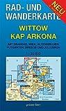 Rad- und Wanderkarte Wittow, Kap Arkona: Mit Dranske, Wiek, Altenkirchen, Putgarten, Breege und Juliusruh. Maßstab 1:30.000.