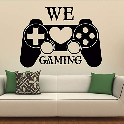 Controller Wandtattoo Home Boys Room Art Spiele Dekor Teen Boys Room Decor Abnehmbare Videospiel Wandbild Ay1383 Cm ()