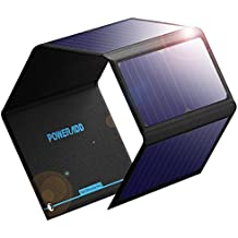 Poweradd Panel Solar 24W Portatil sin Batería Cargador Solar Plegable con 2 USB de Salida Puertos