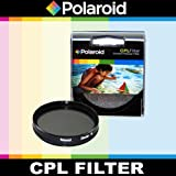 Polaroid Optics CPL Circular Polarizer Filter For The Nikon D40 D40x D50 D60 D70 D80 D90 D100 D200 D300 D3 D3S D700 D3000 D5000 D3100 D3200 D3300 D7000 D5100 D4 D4s D800 D800E D600 D610 D7100 D5200 D5300 Digital SLR Cameras Which Have Any Of These (18-55mm 55-200mm 50mm 40mm 28mm) Nikon Lenses