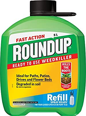 Roundup Fast Action Weedkiller Pump 'N Go Ready To Use Refill, 5 L